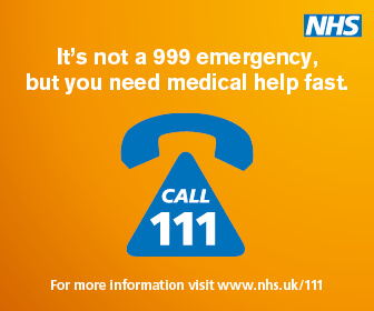 It's not a 999 emergency, but you need medical help fast - call 111