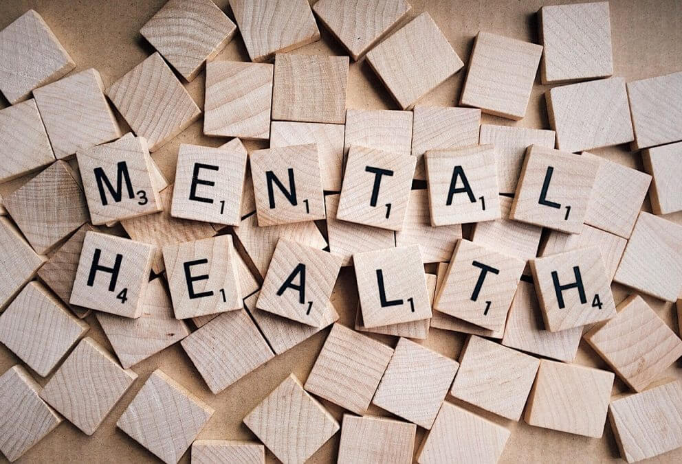 Scrabble pieces spelling mental health